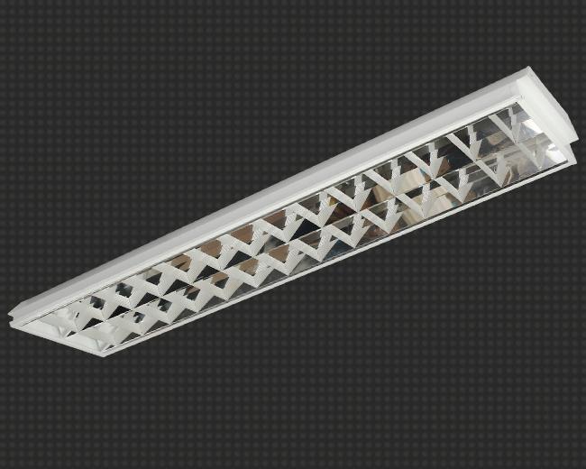 Светодиодный светильник, встраиваемый, прямоугольный 23 Вт (аналог 2*36) с зеркальной решеткой